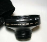 Quantaray 72mm  filter DMC-1A mint with nikon wide converter lens also mint