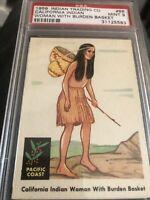 1959 Fleer Indian #66 California Indian Woman Burden Basket PSA 9