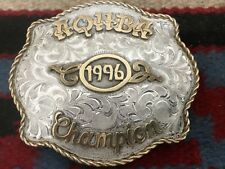 QUARTER HORSE CHAMPION TROPHY BUCKLE STERLING?