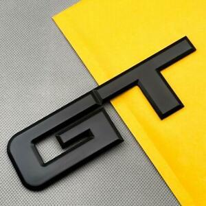 3D Black Metal Large GT Letter Emblem Logo Sport Engine Car Trunk Badge Sticker