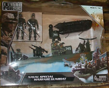 2014 Elite Force 1:18 Naval Special Warfare Gunboat Playset w/2 Sailors 4+