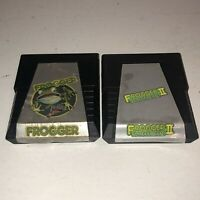 Atari 2600 Frogger & Frogger II Threeedeep Games Tested Working 1 2 Fun Vintage