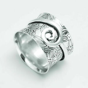 Spinner 925 Sterling Silver Statement Anxiety Perfect Spinner Women Jewelry Sk28