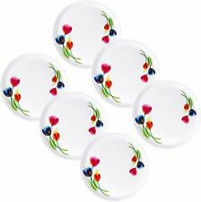 Plastic Microwave Heating Unbreakable Food Grade Set of 6 Pcs Dinner Plates