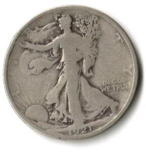 1921 D WALKING LIBERTY HALF DOLLAR GOOD DETAILS