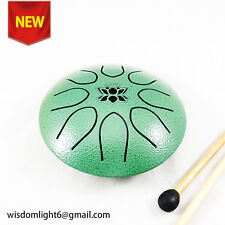 Steel Tongue Drum Hang Drum Pocket Drum F Major 8 Notes 8 Inch Steel Percussion