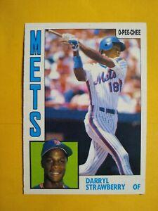 DARRYL STRAWBERRY New York METS 1984 O-PEE-CHEE (OPC)  BASEBALL CARD #182 RC