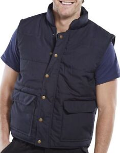 BeeSwift QN Quebec Working Quilted Polycotton Bodywarmer Workwear - Navy