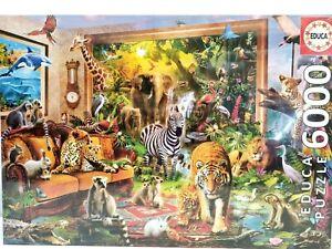 Jigsaw Puzzle 6000 Piece EDUCA Entering the Bedroom Animal 17679 156 x 107cm New