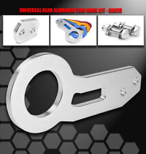 REAR ALUMINUM BUMPER TOW HOOK KIT SILVER ACURA CHEVY DODGE EAGLE FOR FORD HONDA