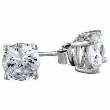 3cts Men Women Stud Earrings Brilliant cut Hypoallergenic Solid Sterling Silver