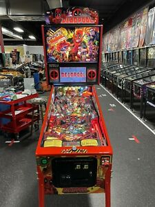 STERN DEADPOOL PINBALL MACHINE LIMITED EDITION LE WITH TOPPER TONS OF MODS