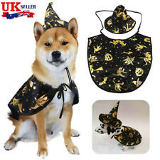 More details for pet halloween cloak cape hat dog cat witch funny cosplay fancy dress costume uk