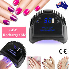 New 64W Cordless LED/UV Nail Lamp Gel Polish Nail Dryer Wireless Rechargeable