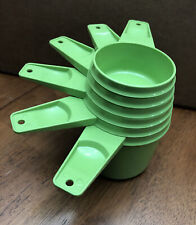 vintage Tupperware MEASURING CUPS Complete Set 6 Green EUC
