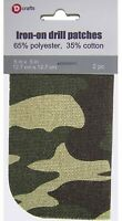 "2 ULTRAHOLD Iron-On Heavy Canvas Camouflage Patches 5x5/"" Compare to Bondex Dritz"