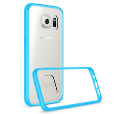 For Galaxy S7 Edge Case [Clear Slim Back Cover] Shockproof -【Prism】Sky Blue