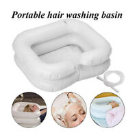 Inflatable Portable Basin Sink Hair Washing Aids in Bed Travel indoor Rest Aid