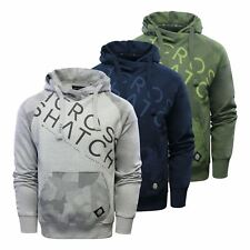 Crosshatch Quirn Mens Hoodie Cotton Hooded Pull Over Sweater