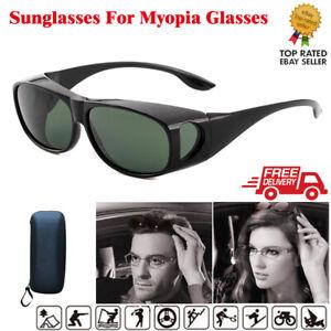 Sunglasses Over Glasses Wrap Around Sunglasses UV400 Over For Myopia Glasses