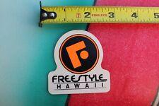 FREESTYLE Hawaii Neon Orange Surfboards Surf V6a Vintage Surfing STICKER