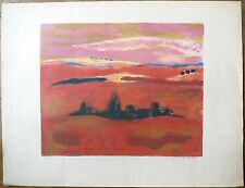 Lithographie, Paysage, Robert Roux