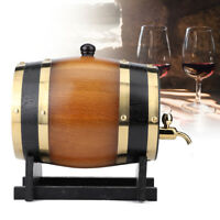 3L Wood Oak Timber Red Wine Barrel For Beer Whiskey Rum Port Wood Keg with Stand