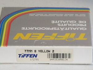 77mm - Tiffen Yellow 8 (K2) filter NEW   #77m8n1