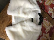 girls white fur bolero jacket