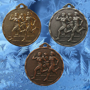 45 Ladies / Womens Running Medals, Includes 15 x Gold, 15 x Silver & 15 x Bronze