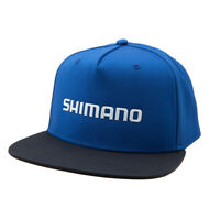SHIMANO LOGO WELDED FLATBILL FISHING CAP HAT MENS OSFM BLUE