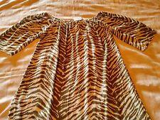 mosakio. Ladies dress one size brown white