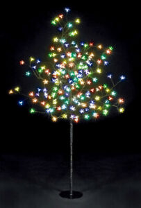 2x 1.5M 200LED MULTI-COLORED CHERRY BLOSSOM SOLAR CHRISTMAS TREE(2 Trees)