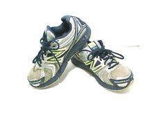 NEW BALANCE 490 v2 Women US 9 W Gray Navy neon yellow  Athletic Running Shoes