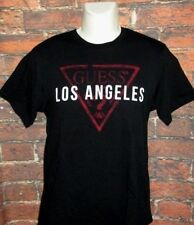 MENS GUESS LOS ANGELES BLACK T-SHIRT SIZE M