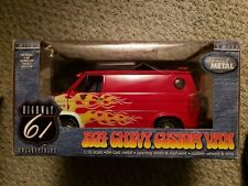 Highway 61 1/16 Scale 1974 Chevy Custom Van Red with flames