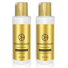 Keratin For Hair Sulfate Free Daily Shampoo Conditioner Shine 4 fl oz Set