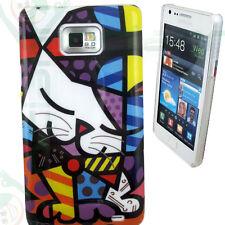 Pellicola+Custodia cover GATTO KITTY per Samsung Galaxy S2 i9100 nuova