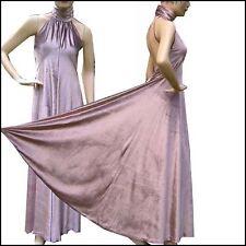 Vintage DISCO Goddess Sexy HALTER Velvet GOWN Dress S