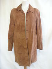 Ladies Coat - Brandon Thomas, size M, rust/brown 100% suede, patches, used 2370