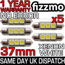 5x libre de error Canbus 3 Smd Led 37mm 239 272 C5w Xenon Blanco número Placa Bombilla del Reino Unido