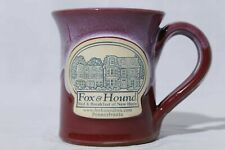 Deneen Pottery Fox & Hound Bed & Breakfast Handthrown Collectible Coffee Mug