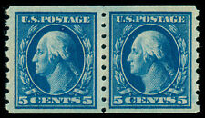 MOMEN: US STAMPS #396 COIL PAIR MINT OG LH XF