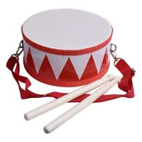 Kids Drum Wood Toy Drum Set with Carry Strap Stick for Kids Toddlers Gift for