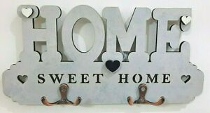 New Wood Key Holder Wall Mount Hooks Keys Storage Hanging Organizer Home Decor