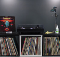 Record Cube (black and/or white w/ opt. Top-Shelf) • LP, Vinyl Storage / Display