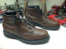DISTRESSED CAROLINA USA BROWN LEATHER LACE UP RED BIRD WORK CHORE BOOTS 10 M