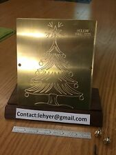 BRASS MASTER TEMPLATE OF CHRISTMAS TREE FOR NEW HERMES ENGRAVER HOLIDAY