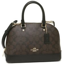 Coach F27583 IMAA8 Mini Sierra Signature Satchel Black Brown Handbag Purse NEW