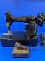 Vintage Compact 1960's Singer Spartan Sewing Machine RFJ9-8 Simanco Motor Works